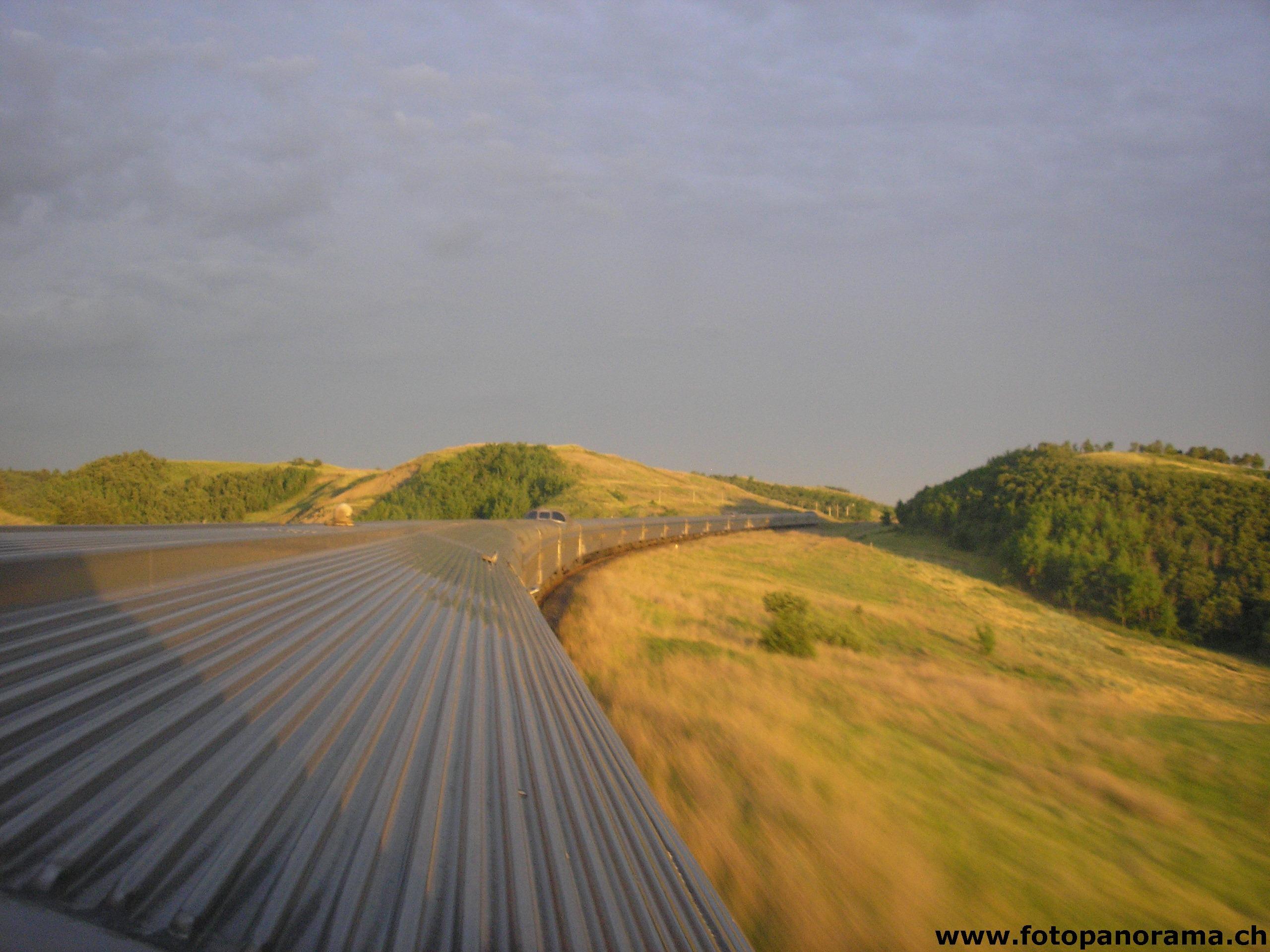 Il canadese di via rail nella prateria nordamericana