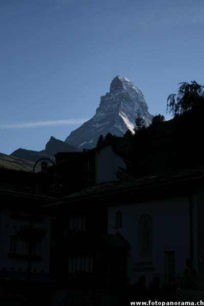 The Matterhorn seen from Zermatt